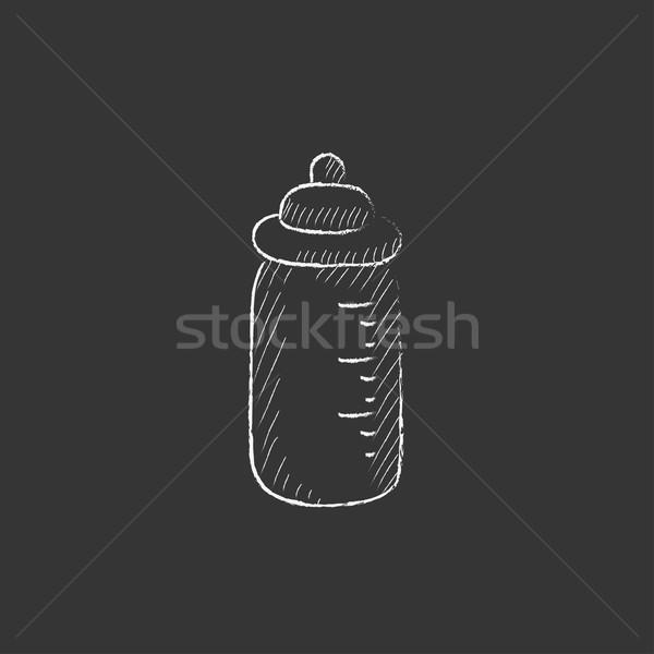 Feeding bottle. Drawn in chalk icon. Stock photo © RAStudio
