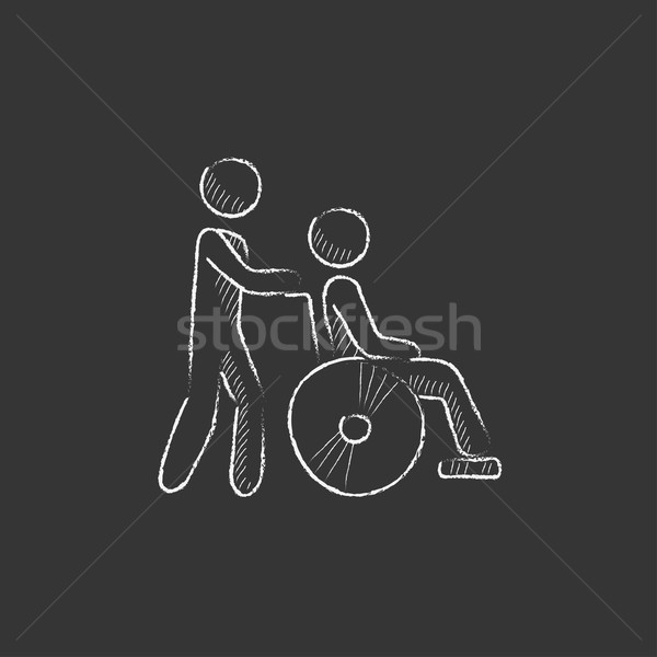 Nursing care. Drawn in chalk icon. Stock photo © RAStudio