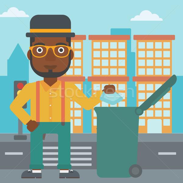 Сток-фото: человека · мусор · зеленый · город