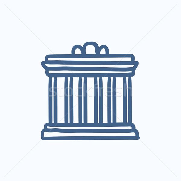 Acropolis of Athens sketch icon. Stock photo © RAStudio