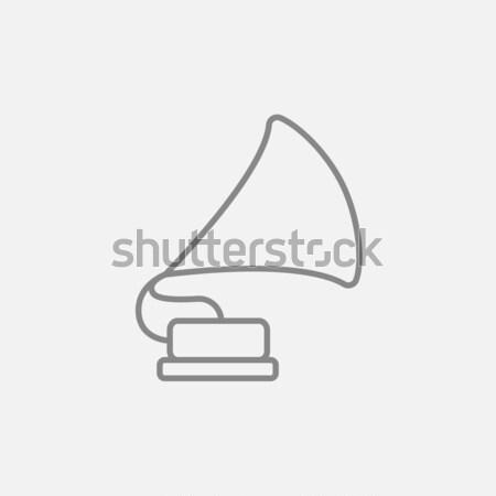 Gramophone sketch icon. Stock photo © RAStudio