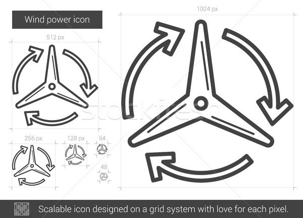 Wind power line icon. Stock photo © RAStudio