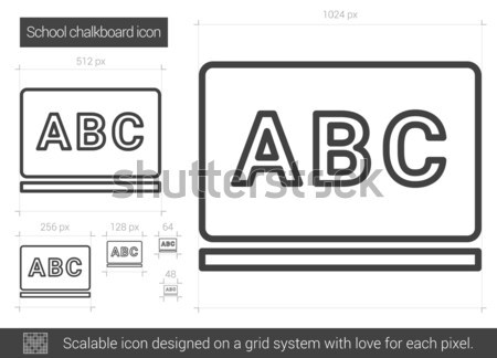 School chalkboard line icon. Stock photo © RAStudio