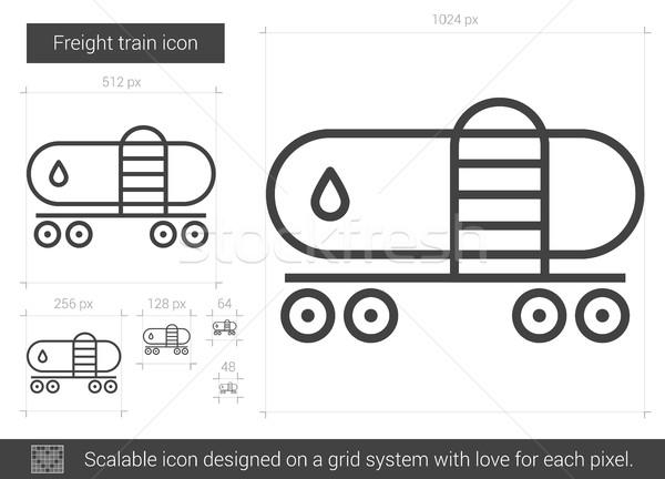 Freight train line icon. Stock photo © RAStudio