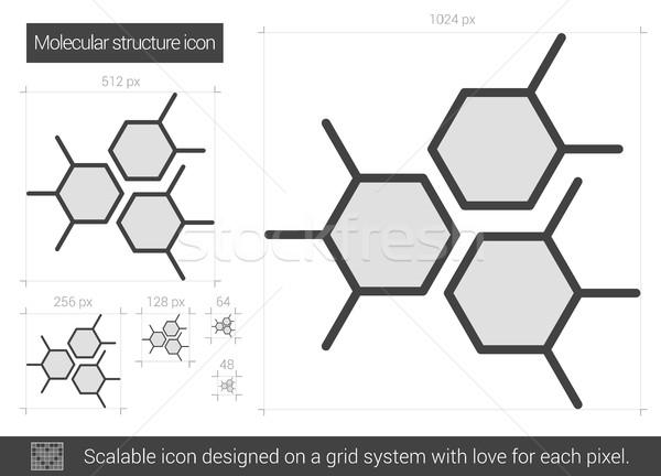 Moleküler yapı hat ikon vektör yalıtılmış Stok fotoğraf © RAStudio