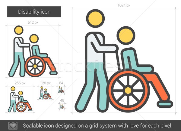 Disability line icon. Stock photo © RAStudio