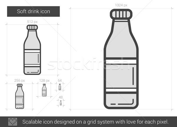 Napój bezalkoholowy line ikona wektora odizolowany biały Zdjęcia stock © RAStudio