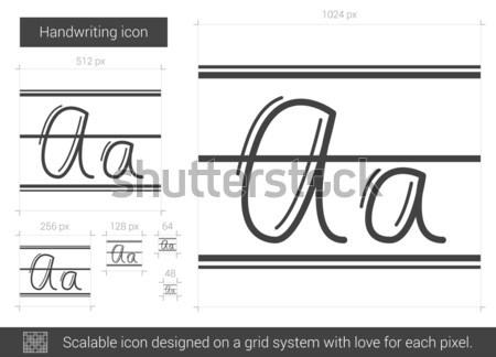 Letra linha ícone vetor isolado branco Foto stock © RAStudio