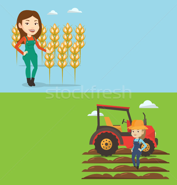 Two agricultural banners with space for text. Stock photo © RAStudio