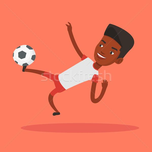 Futbolista pelota jóvenes juego feliz Foto stock © RAStudio