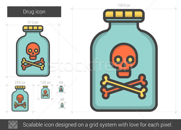 Drug line icon. Stock photo © RAStudio