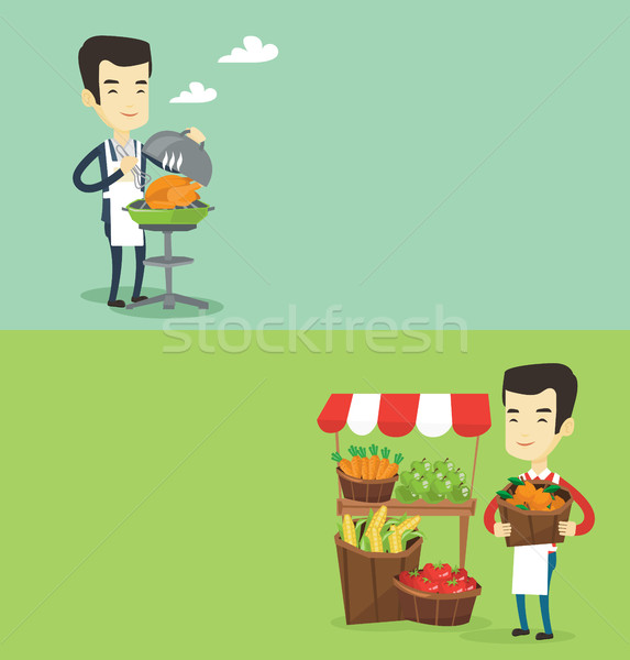 Two food and drink banners with space for text. Stock photo © RAStudio