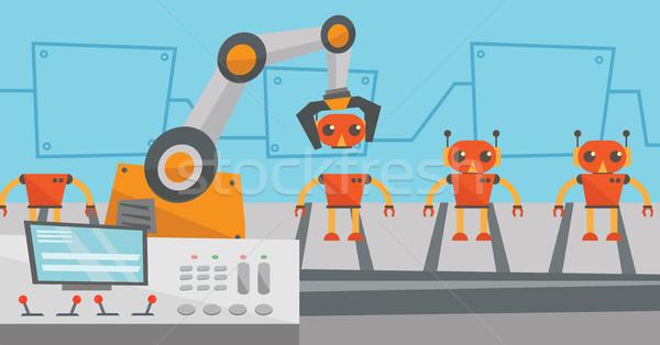 Robotikus gyártás vonal játékok gyár játék Stock fotó © RAStudio
