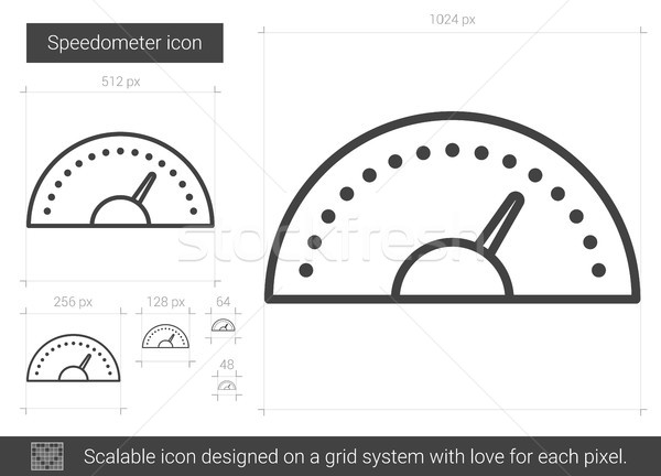 Speedometer line icon. Stock photo © RAStudio