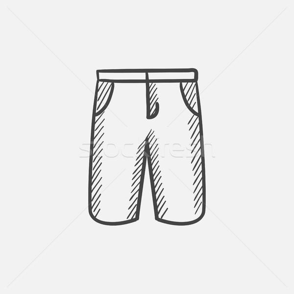 Mężczyzna szorty szkic ikona internetowych komórkowych Zdjęcia stock © RAStudio