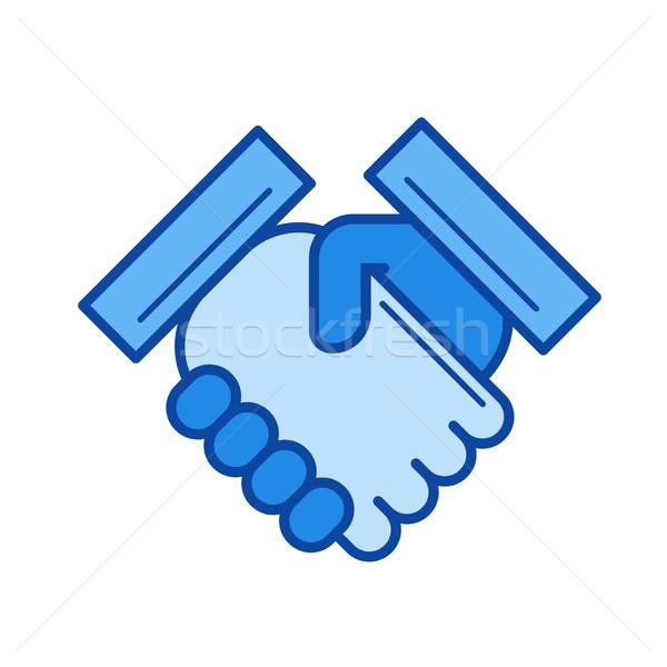 Handshake line icon. Stock photo © RAStudio