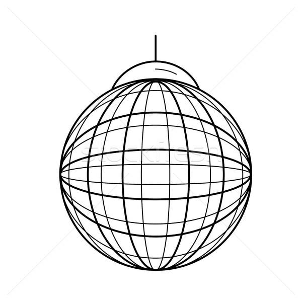 Partij bal lijn icon vector geïsoleerd Stockfoto © RAStudio