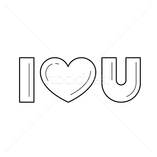 I love you vector line icon. Stock photo © RAStudio