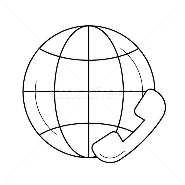Global customer service line icon. Stock photo © RAStudio