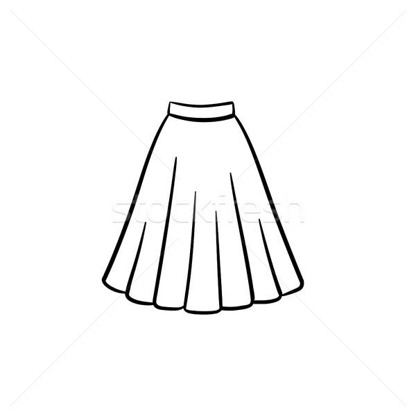 юбка рисованной эскиз икона болван Сток-фото © RAStudio