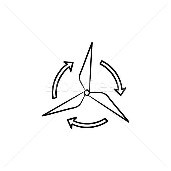 ветер генератор рисованной эскиз икона Сток-фото © RAStudio