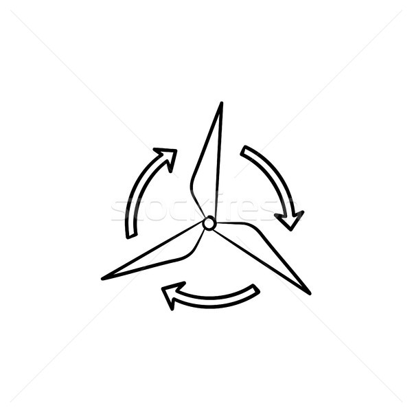 Wind generator schets icon schets Stockfoto © RAStudio
