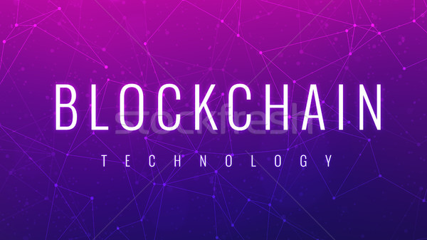 Blockchain technology futuristic ultraviolet hud banner. Stock photo © RAStudio
