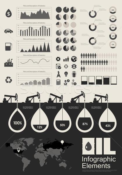 Olie-industrie communie gelegenheid land eps Stockfoto © RAStudio