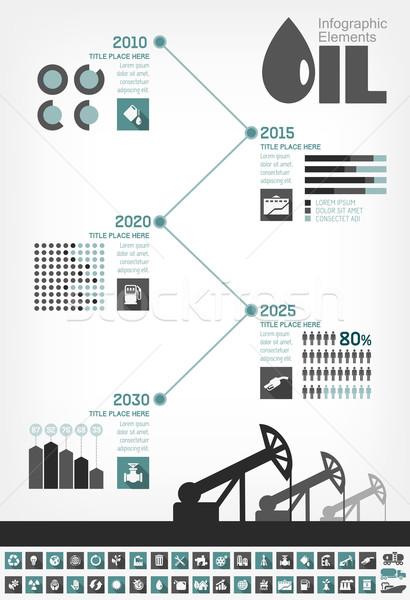 Przemysł naftowy timeline elementy Zdjęcia stock © RAStudio