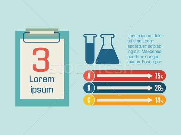 Orvosi infografika infografika elemek vektor oktatás Stock fotó © RAStudio