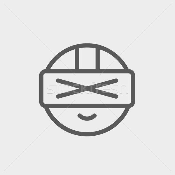 Futuristic headset thin line icon Stock photo © RAStudio