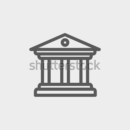 Museum building thin line icon Stock photo © RAStudio