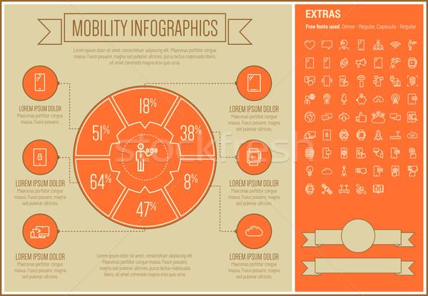 Mobilité ligne design modèle Photo stock © RAStudio