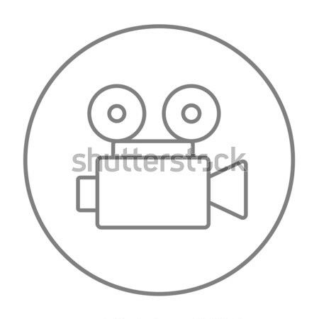 Cinematography thin line icon Stock photo © RAStudio