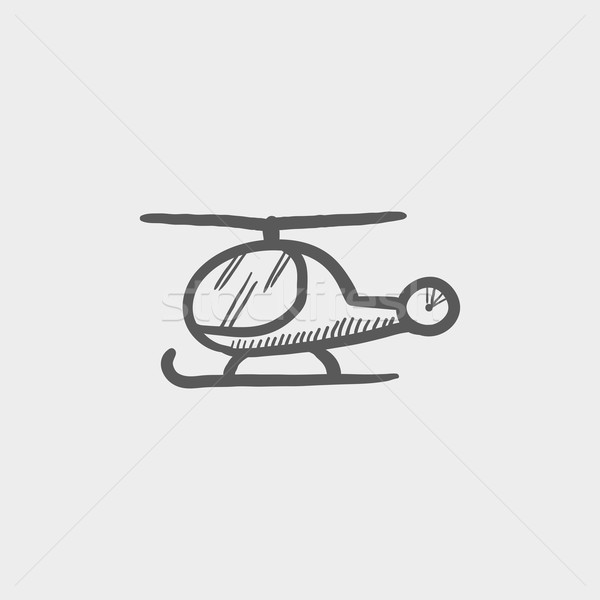 Helikopter schets icon web mobiele Stockfoto © RAStudio
