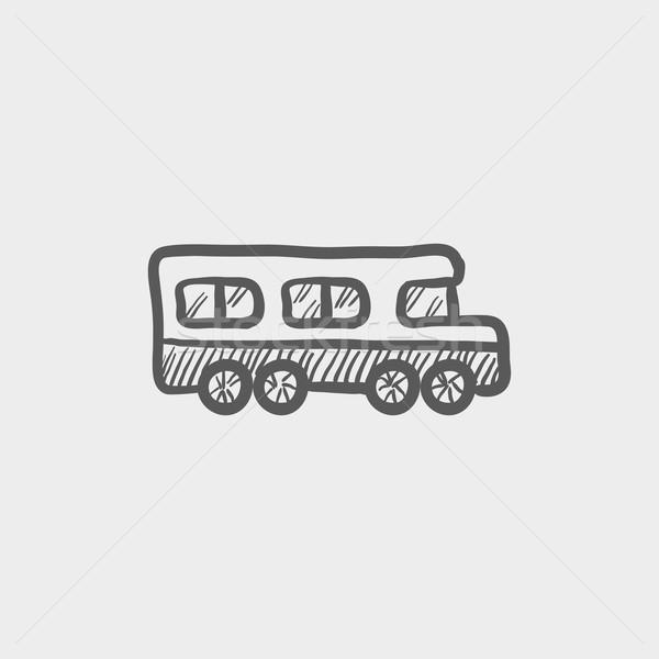 Okul otobüsü kroki ikon web hareketli Stok fotoğraf © RAStudio