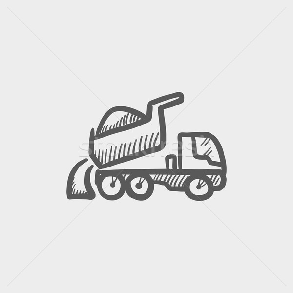 Dump truck sketch icon Stock photo © RAStudio