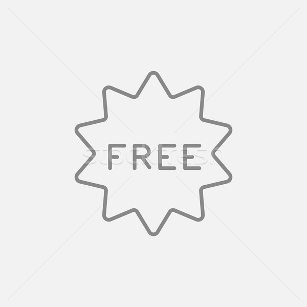 Free tag line icon. Stock photo © RAStudio