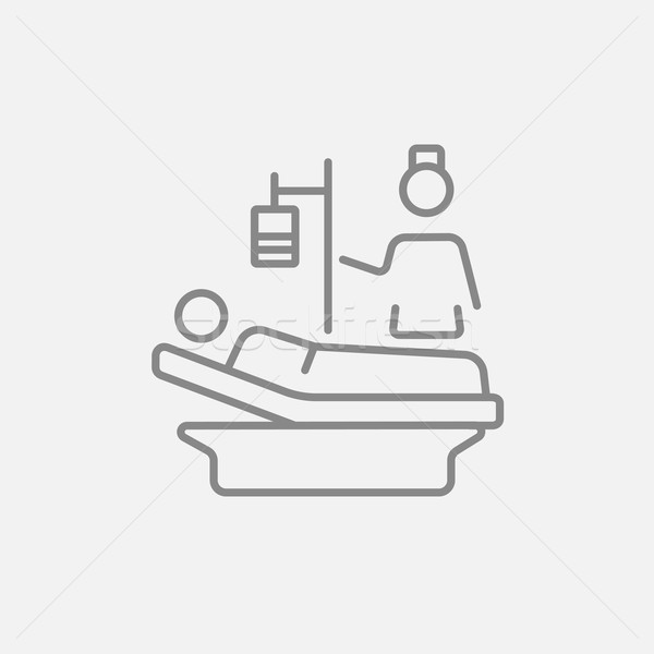 Nursing care line icon. Stock photo © RAStudio