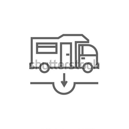 Motorhome and sump line icon. Stock photo © RAStudio