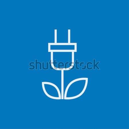 Stock photo: Eco green energy line icon.