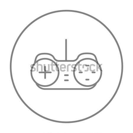 Palanca de mando línea icono web móviles infografía Foto stock © RAStudio