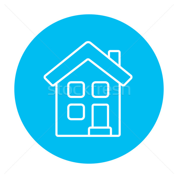 Stock photo: Two storey detached house line icon.