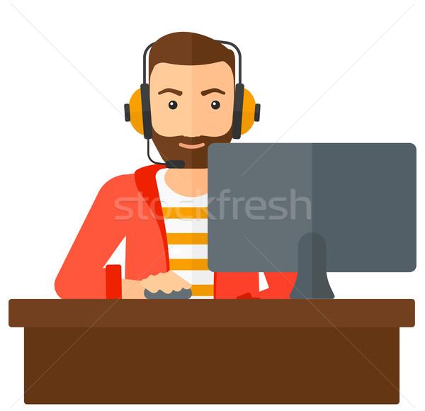 Man playing video game. Stock photo © RAStudio