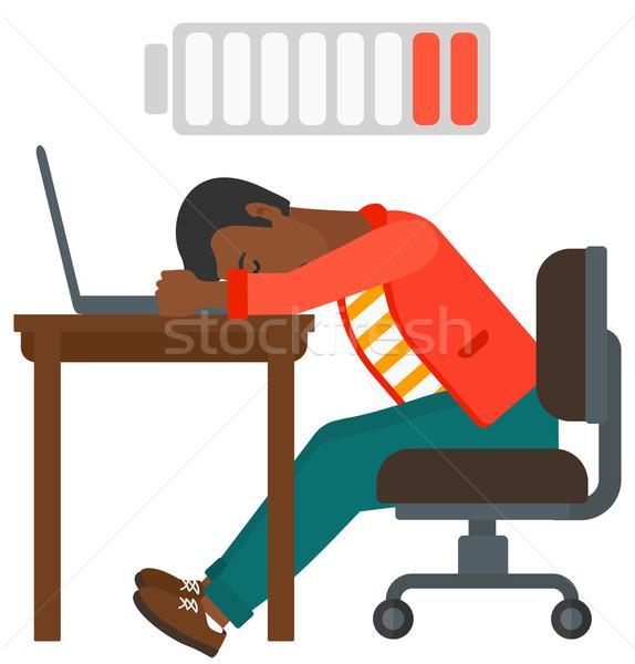 Man sleeping at workplace. Stock photo © RAStudio