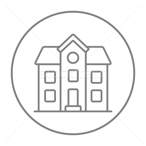 Two storey detached house line icon. Stock photo © RAStudio