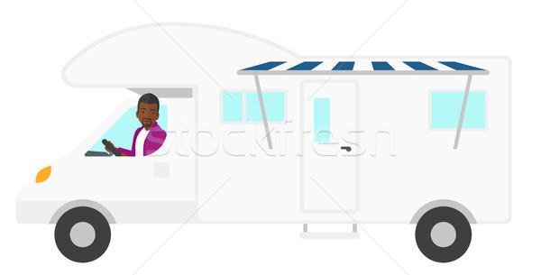 человека вождения Motor домой вектора дизайна Сток-фото © RAStudio