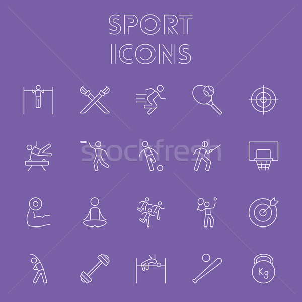 Stock photo: Sport icon set.