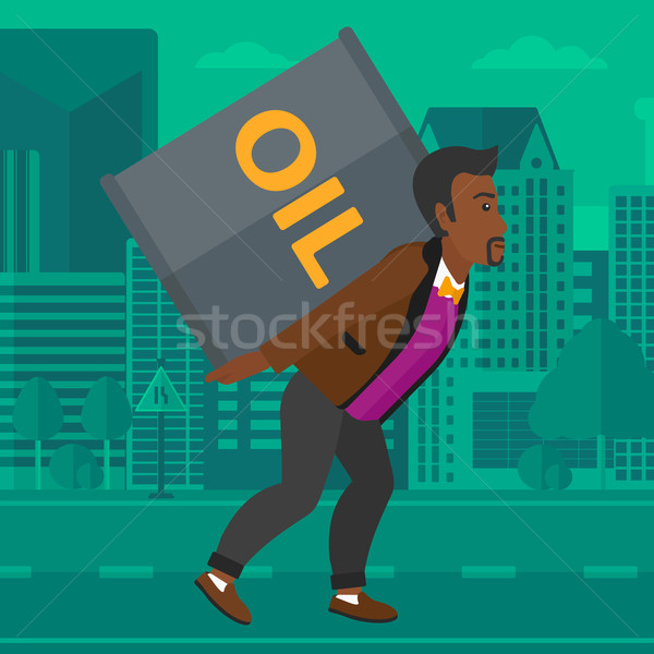 Man with oil can. Stock photo © RAStudio