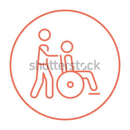 Nursing care line icon. Stock photo © RAStudio